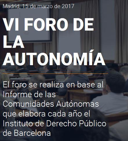 VI Foro de la Autonomía
